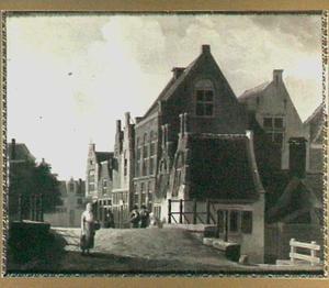 Gezicht op de brug van de Kolfstraat te Dordrecht