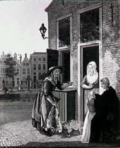 De visverkoopster (Bierkade/Prinsengracht (?) te Den Haag)