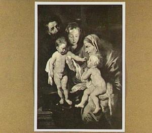 Heilige familie met Elizabeth en Johannes de Doper