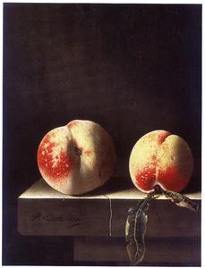 Stilleven met twee perziken