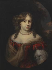 Portret van Anthonia des Quiens (1646-1676)