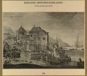 Landing van de Hollanders bij de vesting Sheerness