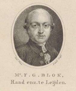 Portret van Franciscus Gualtherus Blok (1749-1812)