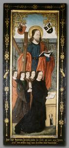 Familieportret van Hendrik Pauw (1450-1500) en zijn vier zonen