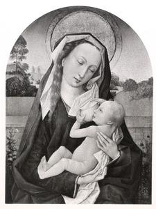 Maria lactans in een landschap