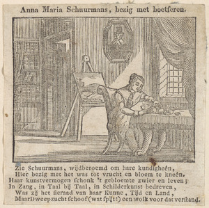 Portret van Anna Maria van Schurman (1607-1678)