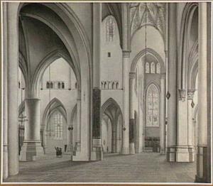 Interieur van de St. Bavo in Haarlem