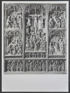 Christus voor Kajafas, de kruisdraging, de kruisiging, de kruisafname, de bewening