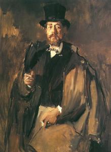 Portret van de schilder Pal Szinyei von Merse (1845-`1920)