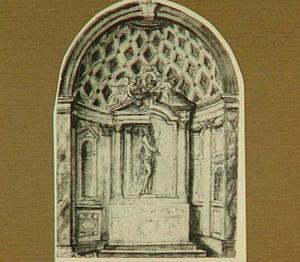 Ontwerp voor een altaar in een kapel