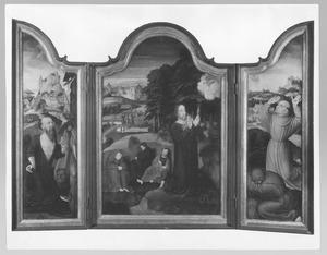 De H. Hieronymus; Christus in Gethsemane; de H. Franciscus