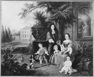 Portret van een familiegroep