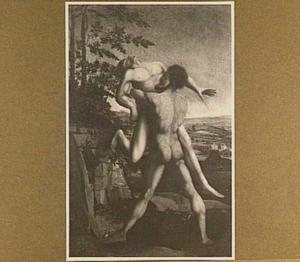 Hercules in gevecht met de reus Antaeus