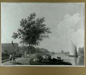 Gezicht op het Zuider Buiten Spaarne vanaf de Schalkwijkerweg