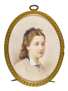 Portret van een vrouw, waarschijnlijk Mechtild Corisande Reinira Marie van Aldenburg Bentinck (1877-1940)