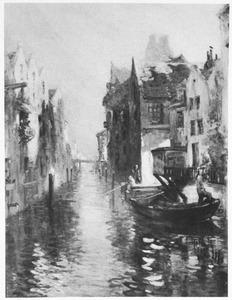 Gezicht op een kanaal in Dordrecht