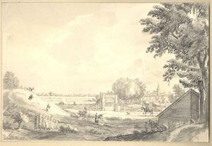 Doesburg, gezicht op de stad uit het noordwesten