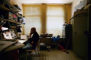 Marcel van Eeden in zijn atelier