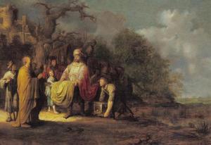 Elisa weigert de geschenken van Naäman (2 Koningen 5:16)