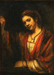 Vrouw bij een deuropening