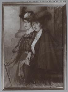 'De twee vriendinnen': Lizzy en Thérèsia Ansingh