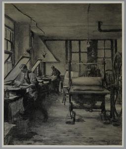 Drukpersen in de drukkerij Mouton