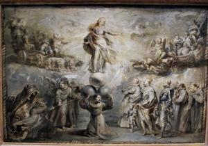 Allegorie op de Onbevlekte Ontvangenis van Maria door Franciscanen