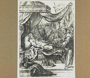 De stervende Lodewijk XI roept de H. Franciscus van Paula aan zijn bed