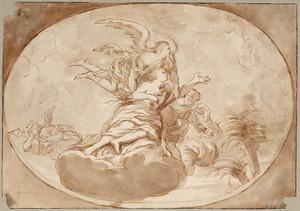 Schets voor een plafonddecoratie (Tenhemelopneming Maria Magdalena)