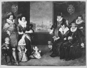 Groepsportret van Frederik Hendrik van Oranje-Nassau (1584-1647) met zijn familie