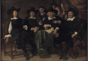 Groepsportret van de overlieden van de Voetboogdoelen te Amsterdam, 1656