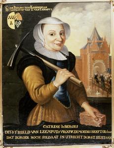 Portret van Catharina van Voorn ( -1606)
