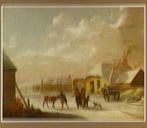Boerenerf in de winter