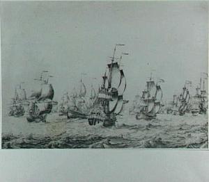Een grote vloot op zee