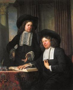 Dubbelportret van twee onbekende mannen