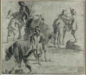 Studies van mannen en paarden