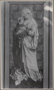 Maria met kind aan de borst (op de achterzijde: Mater Dolorosa, daterend uit de 17de eeuw)