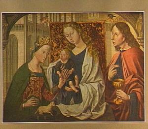 Maria met kind en de HH. Agnes en Johannes de Evangelist: het mystieke huwelijk van de H. Agnes