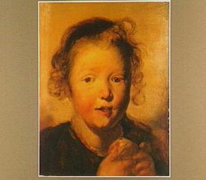 Portretstudie van een kind met een appel