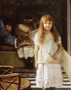 Portret van Anna Alma Tadema (1864-1940) en Laurense Alma Tadema (1865-1940)
