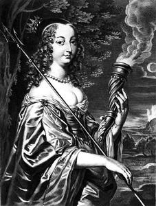 Portret van Marie Louise Gonzaga, koningin van Polen (1611-1667)