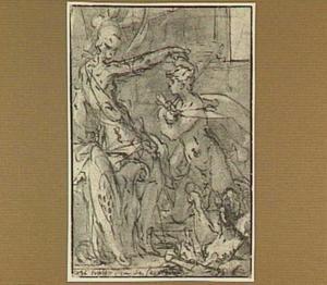 Minerva kroont een jonge kunstenaar