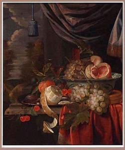 Vruchtenstilleven voor een venster