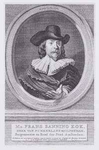Portret van Mr. Frans Banning Kok, heer van Purmerland en Ilpendam, Burgemeester en Raad der Stad Amsterdam