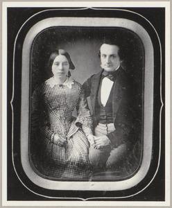 Portret van Johan van der Feen (1822-1906) en Anna Maria Egter (1825-1912)