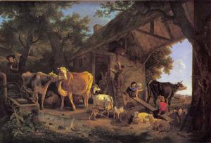 La sortie des bestiaux