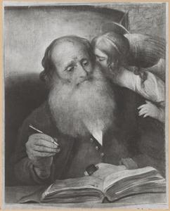 De evangelist Mattheüs met de engel