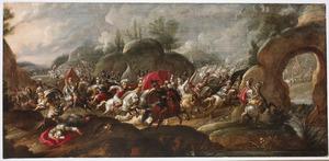 De dood van koning Saul en de zelfmoord van zijn wapendrager tijdens de slag bij Gilboa (1 Samuel 31:4-6)