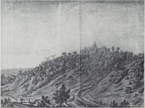 Gezicht op het klooster van Elten