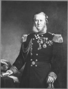 Portret van Vice-admiraal Olke Arnoldus Uhlenbeck (1810-1888), adjudant van Koning Willem III